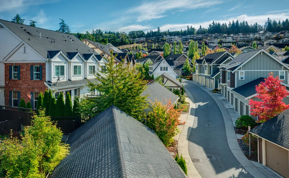 Residential area of Issaquah, WA