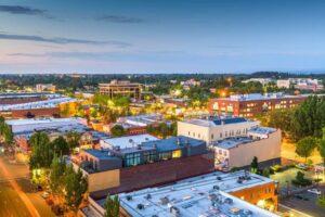 Downtown skyline of Salem, Oregon